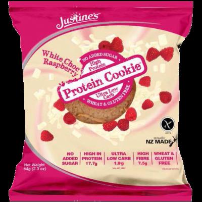 Justines - Protein cookie chocolate blanco y frambuesas
